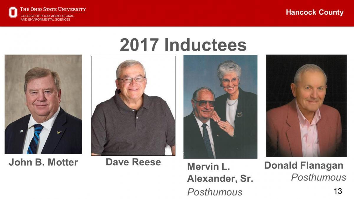 Ag Hall of Fame 2017